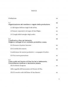 Arte orafa a Pisa - indice 1