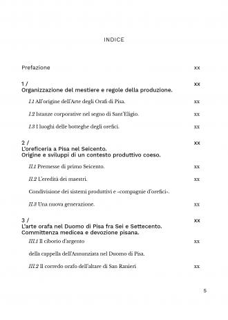 Arte orafa a Pisa – indice 1