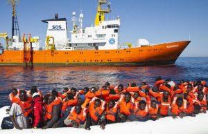 La nave Aquarius di Sos Méditerranée