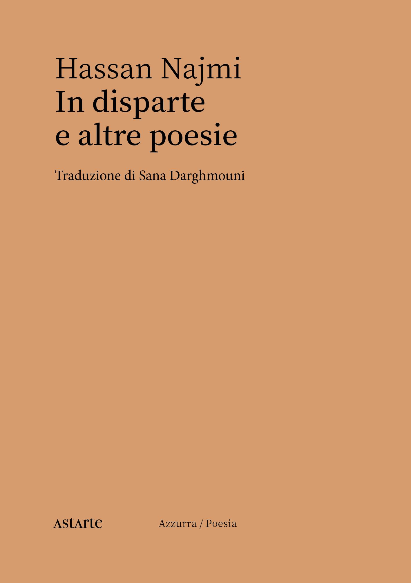 Hassan Najmi, In disparte e altre poesie, copertina